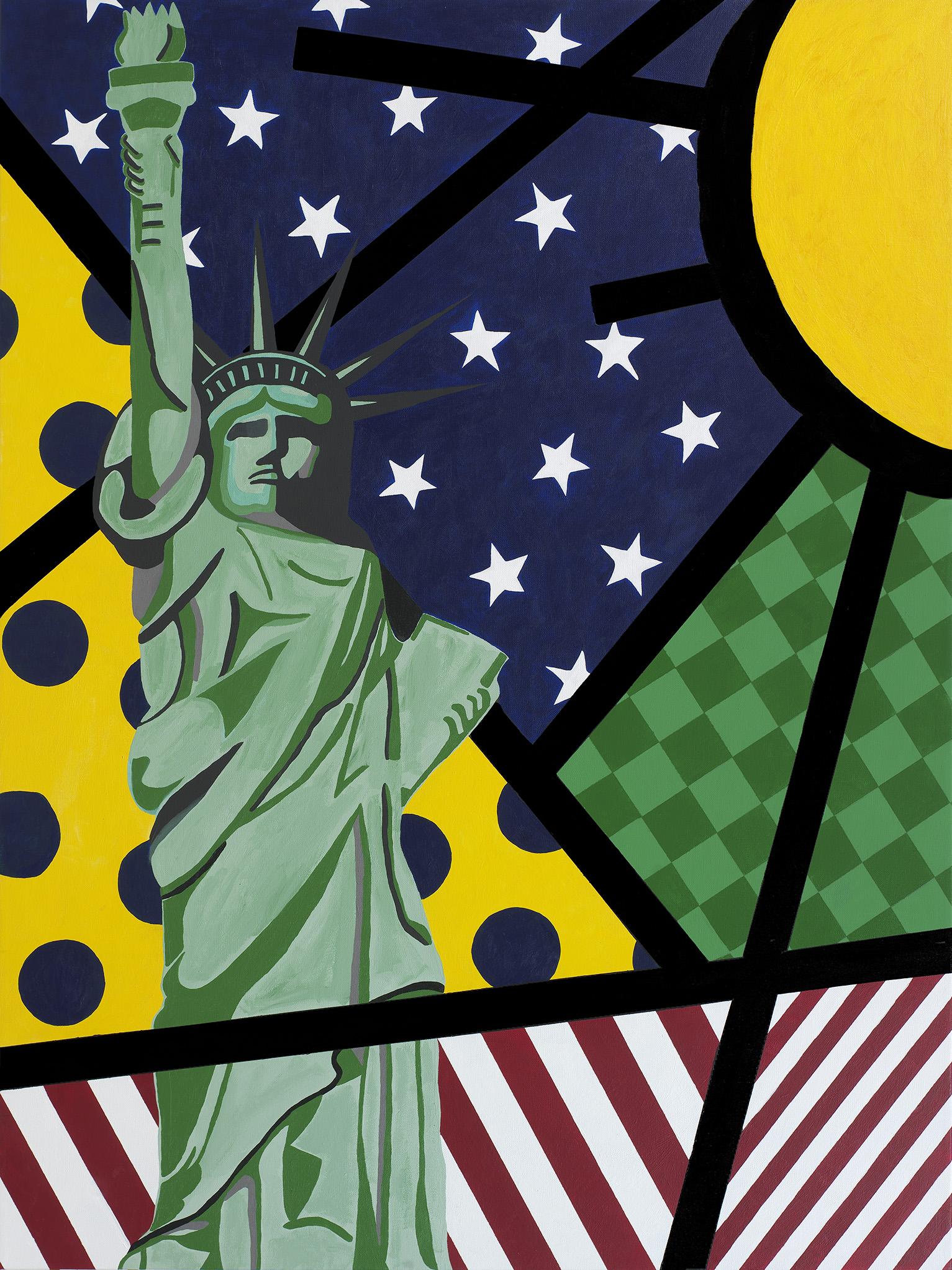 """Lady Liberty 36"""" x 48"""""""